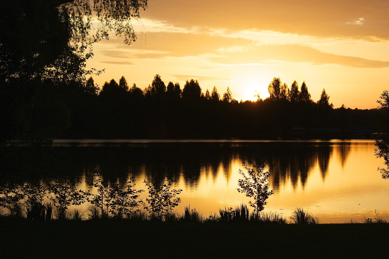 Solnedgång i Kålgården