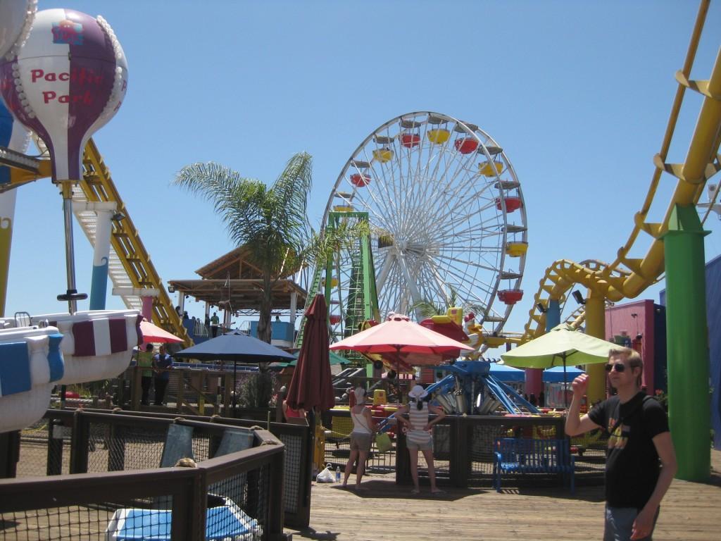 Henrik på Santa Monica Pier