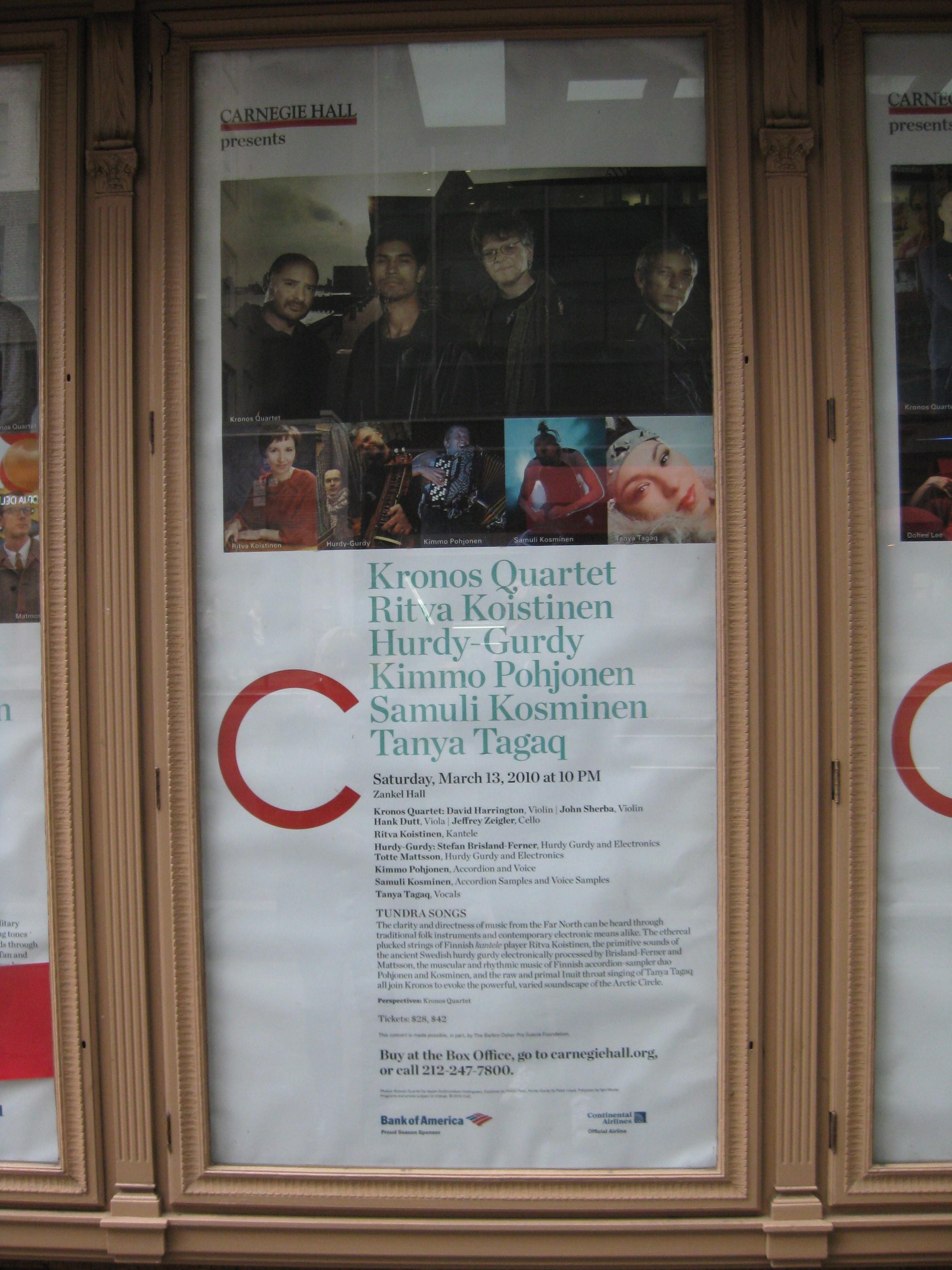 Affisch vid Carnegie