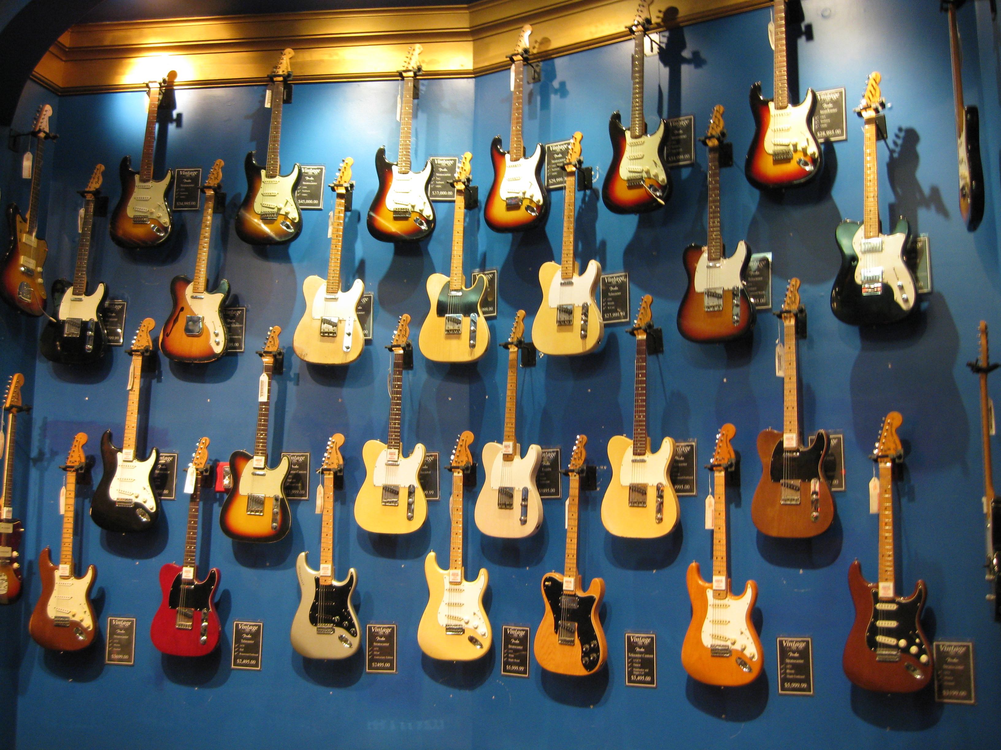 Gitarrvägg