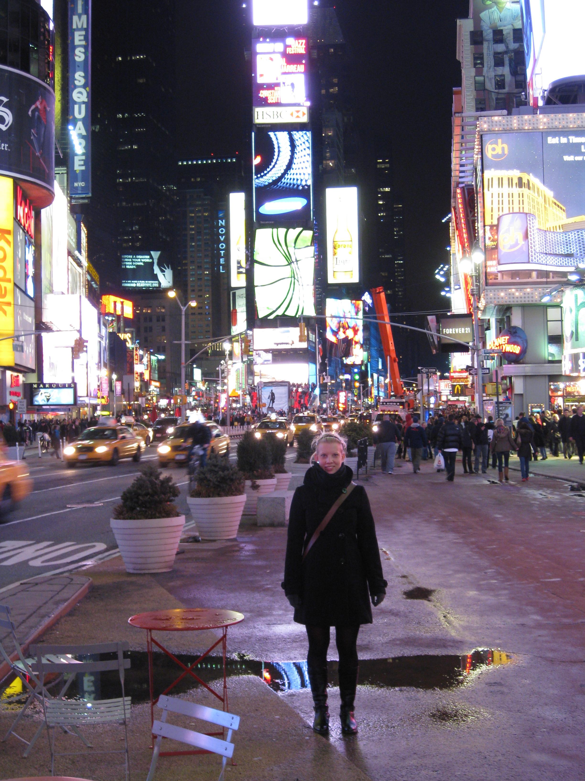 Linn på Time Square