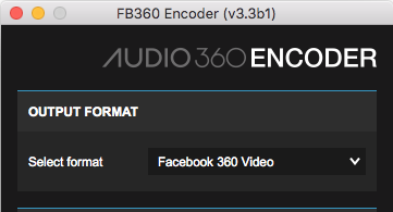 A screen shot of the FB360 Encoder