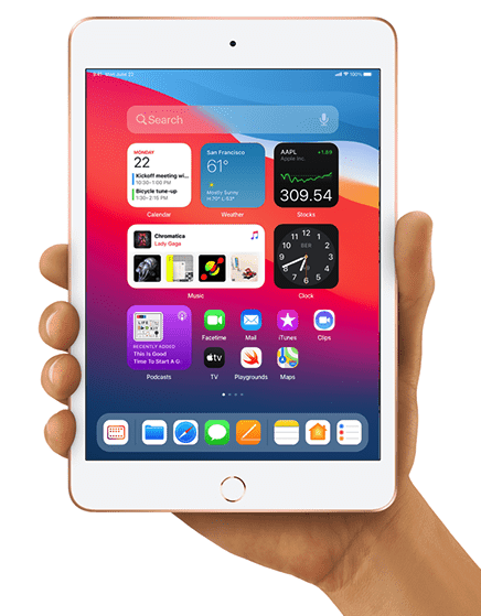 iPadOS 15 concept on iPad Mini